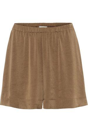 Vince Dames Shorts - High-waisted habotai silk shorts