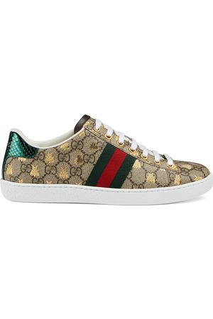 Gucci Women's Ace GG Supreme sneaker with bees
