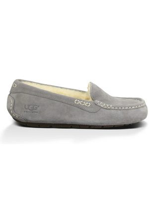 UGG Ansley Pantoffels voor Dames in Light Grey, maat 36 | Leder/Suede