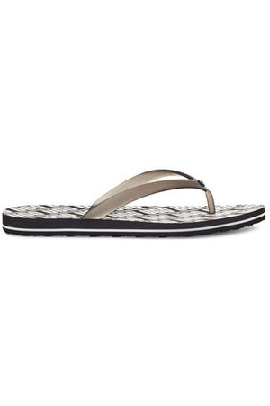 UGG Simi Graphic Logo Flip Flop voor Dames in Black, maat 41 | Synthetisch