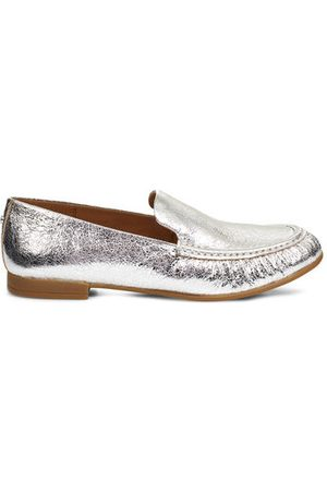 Ugg Vivian Metallic Loafers voor Dames in Silver, maat 39 | Leder