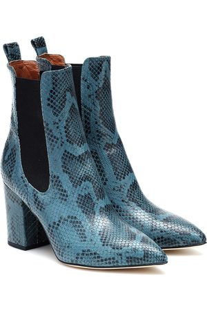 PARIS TEXAS Dames Enkellaarzen - Exclusive to Mytheresa – Snake-effect leather ankle boots