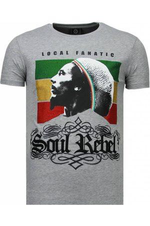 Local Fanatic Heren Korte mouw - Soul rebel bob rhinestone t-shirt