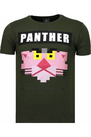 Local Fanatic Heren Korte mouw - Panther for a cougar rhinestone t-shirt