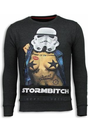 Local Fanatic Stormbitch rhinestone sweater