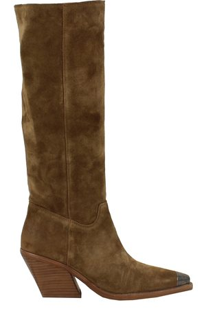 Bronx Dames Cowboy & Bikerboots - Low Kole 14186-C-3356 Dark Natural