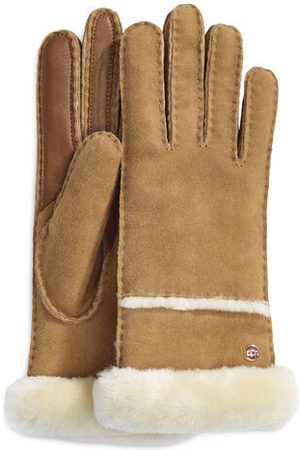 UGG Seamed Tech Handschoenen voor Dames in Chestnut, maat M | Shearling