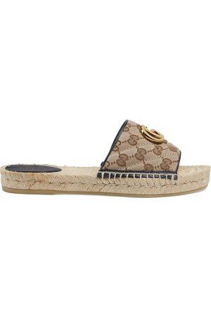 Gucci Women's GG matelassé canvas espadrille sandal