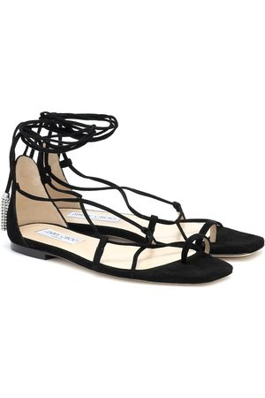 Jimmy Choo Dusti embellished suede sandals