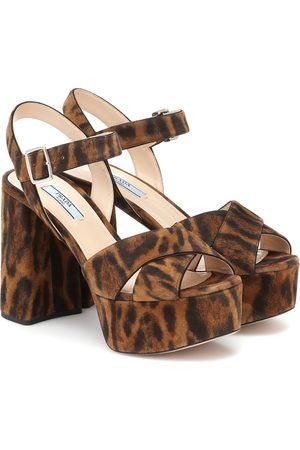 Prada Leopard-print suede sandals