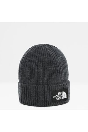 The North Face The North Face Omgeslagen Beanie Met Vierkant Tnf-logo Tnf Medium Grey Heather Größe One Size Normaal Dame