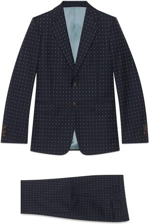 Gucci Straight fit G dot wool suit