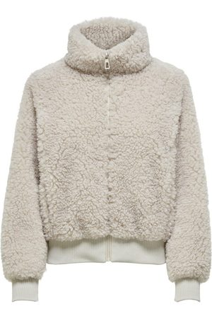 Only Sherpa Bomber Jas Dames Beige