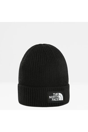 The North Face The North Face Omgeslagen Beanie Met Vierkant Tnf Box-logo Voor Jongeren Tnf Black One Size Unisex