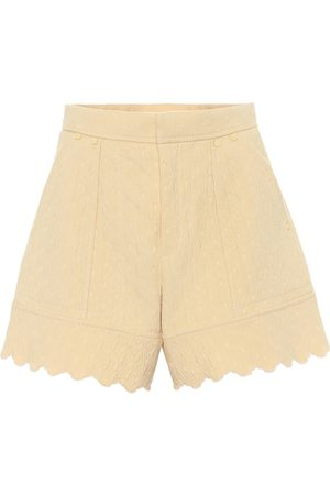 Chloé Quilted cotton jacquard shorts