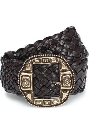 Etro Dames Riemen - Woven leather belt