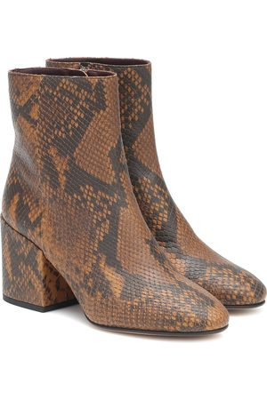DRIES VAN NOTEN Dames Enkellaarzen - Snake-effect leather ankle boots