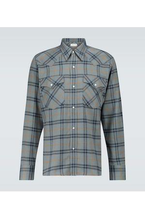 DRIES VAN NOTEN Heren Shirts - Checked flannel shirt