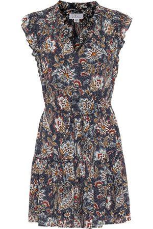 Velvet Paloma floral minidress
