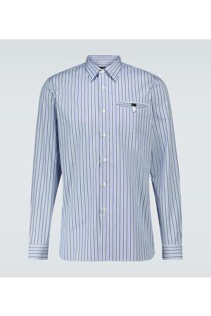 Prada Striped long-sleeved shirt