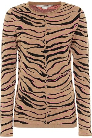 Stella McCartney Leopard-print intarsia wool-blend sweater