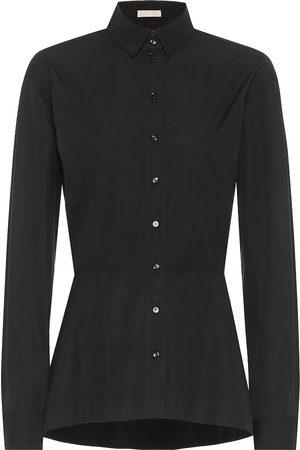 Alaïa Dames Lange mouw - Cotton-poplin shirt