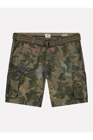 Dstrezzed Heren Riemen - Combat shorts with belt camo 515232/522