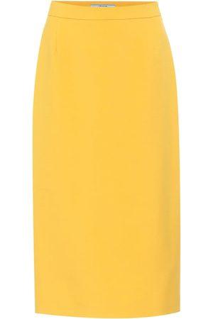 Prada Virgin wool pencil skirt