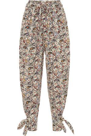 Isabel Marant Rexty paisley cotton carrot pants
