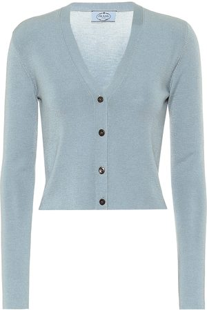 Prada Cashmere and silk cropped cardigan