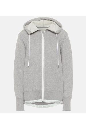 SACAI Dames Truien - Cotton-blend jersey hoodie