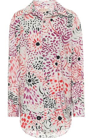 Marni Dames Lange mouw - Floral cotton shirt