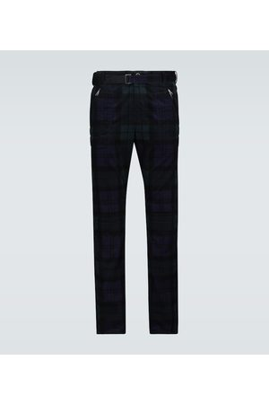 SACAI Heren Slim & Skinny broeken - Checked corduroy slim-fit pants