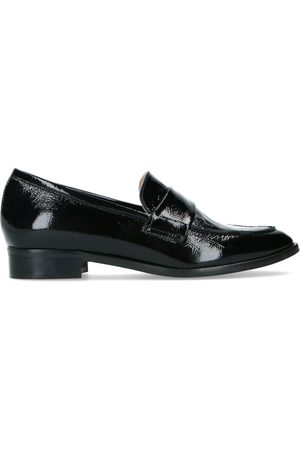 Manfield Dames Loafers - Zwarte lakleren loafers
