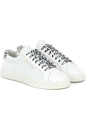 Saint Laurent Andy perforated leather sneakers