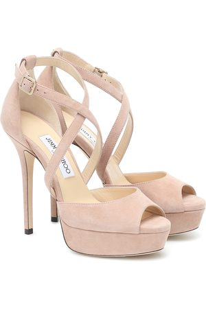 Jimmy Choo Dames Sandalen - Jenique 125 suede platform sandals