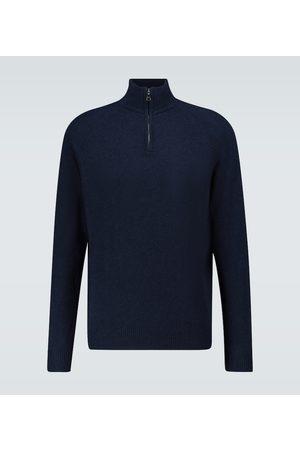 DEREK ROSE Cashmere half-zipped sweater