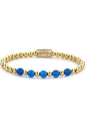 Rebel and Rose Armbanden Yellow Gold meets Brightening Blue - 6mm Goudkleurig