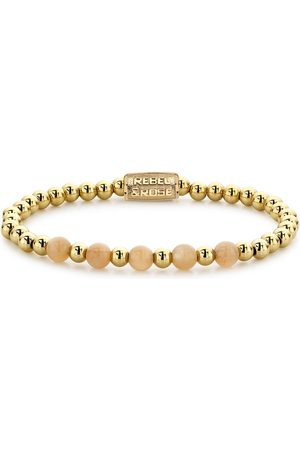 Rebel and Rose Armbanden Yellow Gold meets Sunset Beach - 6mm Goudkleurig