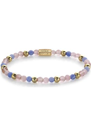 Rebel and Rose Armbanden Pink Summer Vibes II - 4mm - yellow gold plated S