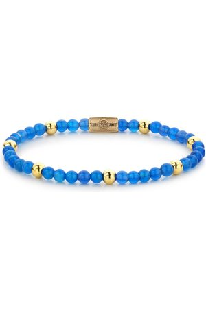 Rebel and Rose Armbanden Brightening Blue - 4mm - yellow gold plated