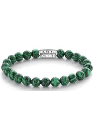 Rebel and Rose Armbanden - Armbanden Malachite Green - 8mm