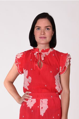 Ganni Blouses - Blouse F4895 Pleated Georgette rood