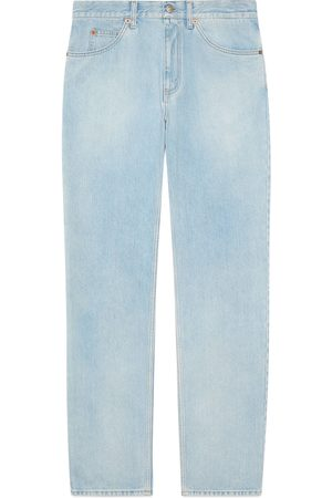 Gucci Regular fit stone-bleached jeans