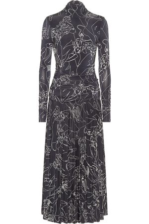 Victoria Victoria Beckham Printed stretch-jersey midi dress