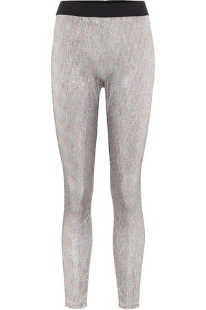 Paco rabanne Bodyline metallic knit leggings