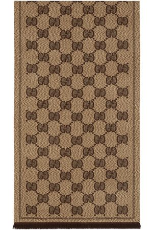 Gucci Heren Sjaals - GG wool jacquard scarf