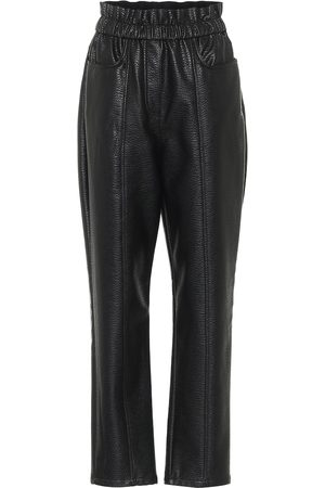 Serafini High-rise faux leather pants