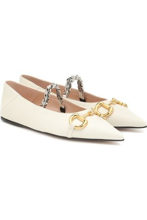 Gucci Dames Ballerina's - Horsebit leather ballet flats