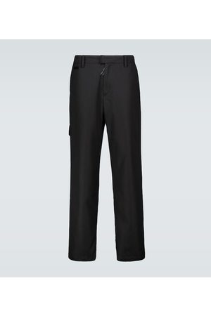 OFF-WHITE Straight technical cotton chinos